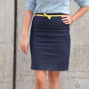 J. Crew Blue Pencil Skirt